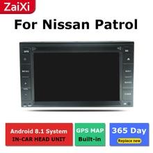 цена на ZaiXi 2Din For Nissan Patrol Safari Y61 2001~2013 Car Android Radio Multimedia Player GPS Navigation IPS Screen HiFi WiFi BT
