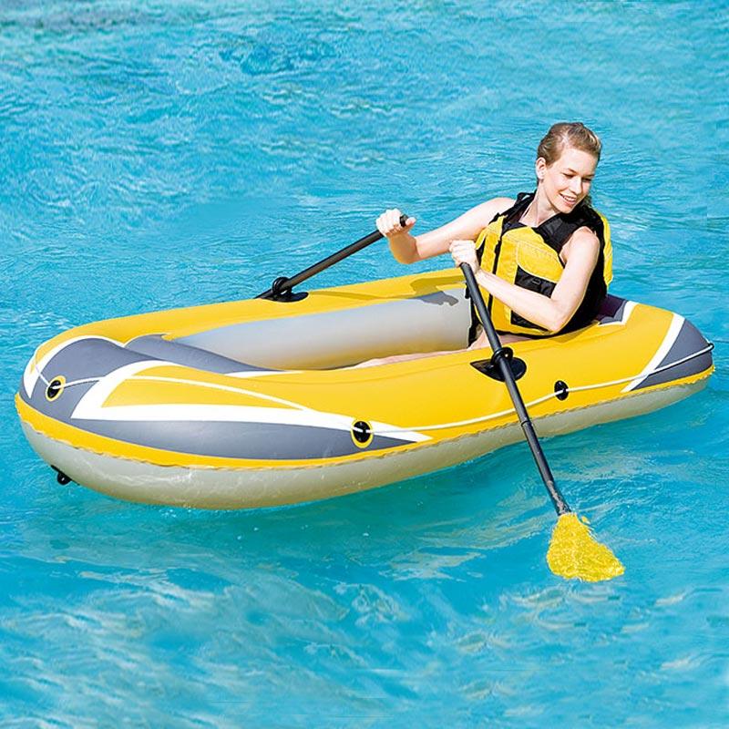 Bateau de pêche en caoutchouc de PVC de haute résistance de bateau gonflable avec le Kit de réparation de pompe à palettes pour l'outil de ski nautique à la dérive adulte d'enfant T4