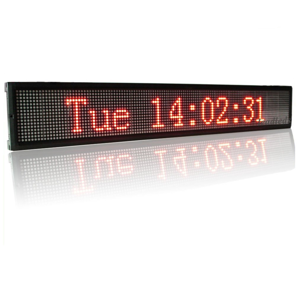 Electronic Components & Supplies Led Displays 30 X 6-in 16*96pixel Wireless Wifi Rgb Full Color P7.62 Indoor Led Message Sign Moving Scrolling Display Board For Shop& Window
