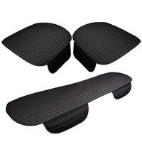 Karcle RU Ship 3PCS Car Seat Cvoers Universal Linen Breathable Seat Cushion 4 Seasons Warm Winter Car styling Auto Accessories