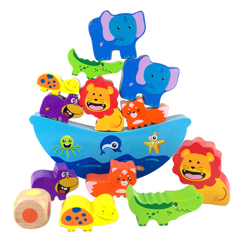 Logwood Montessori Color Cartoon Animals Wooden Balance toy wood toys for children educational learning 2017 New gift magnetic wooden puzzle toys for children educational wooden toys cartoon animals puzzles table kids games juguetes educativos