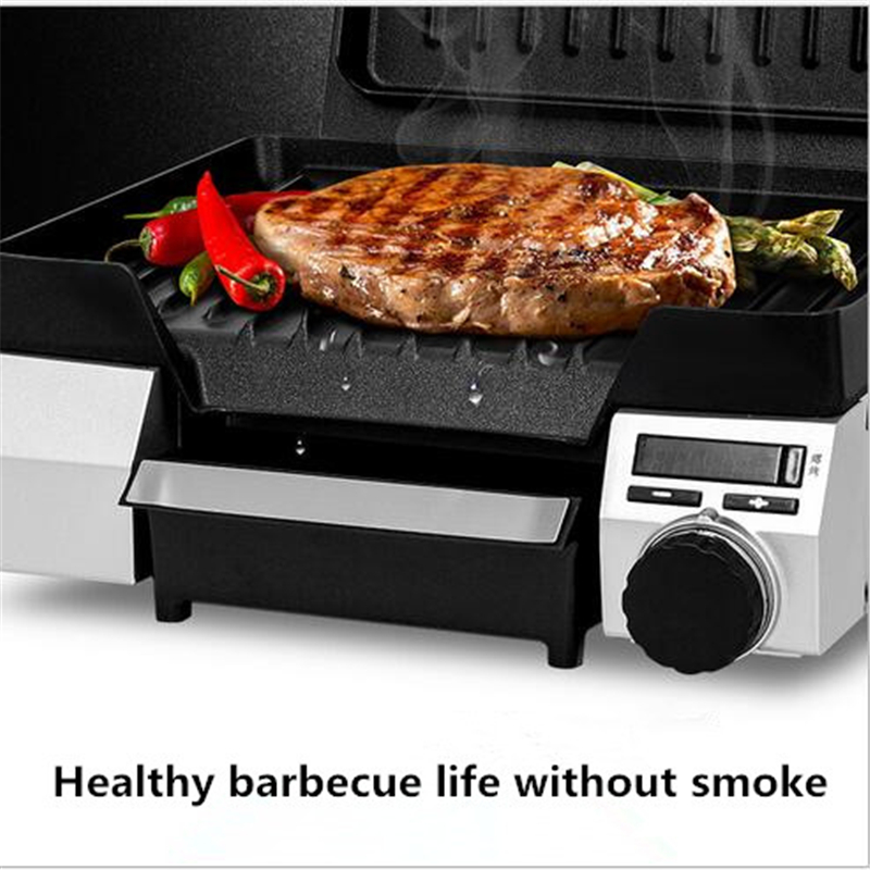 220V Electric Non-Stick Oven Skillet Baking Steak Machine Multifunctional Sandwich Beef Barbecue Meat Fryer Toaster EU/AU/UK/US konka microcomputer intelligent control air fryer 2 5l smokeless electric air fryer french fries machine non stick fryer 220v eu