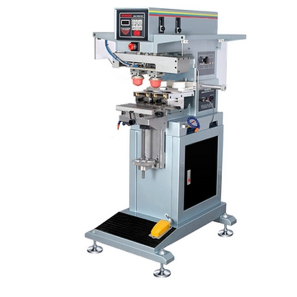 Одежда для печати этикеток машина, автоматическая 2 цвет одежды этикетки машина тампонной печати