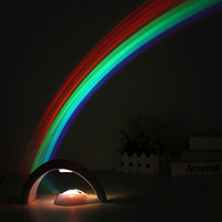 Baby Kids Children LED Rainbow Light Colorful Romantic Rainbow Projector Night Light Lamp For Sleeping Bedroom