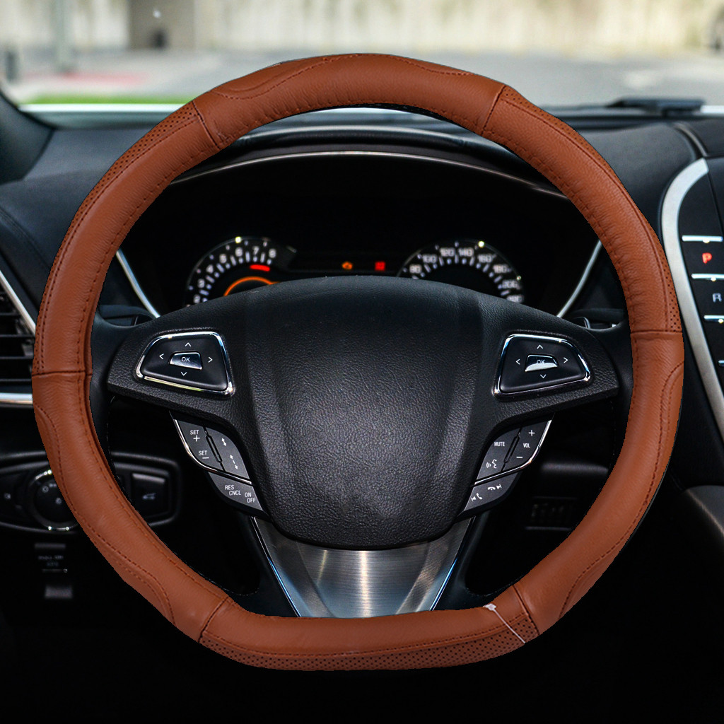 2019 New Arival Hot Sale Auto Car Steering Wheel Cover Leather Universal Anti-Sl