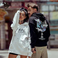SLOUPPG couple hoodie Fashion loose casual men BF student print Chinese style sweatshirts cool men's wear