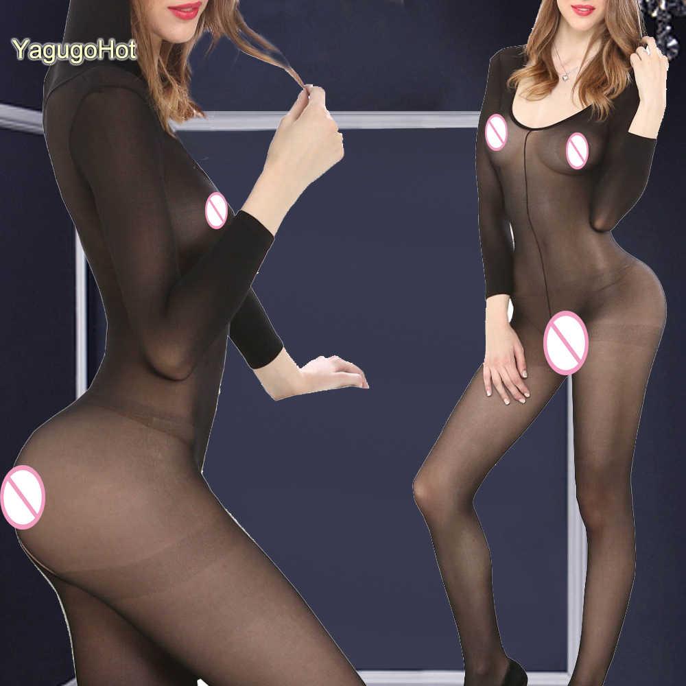 Babydoll женское белье в сетку сексуальное шелковое свадебное толстовка с капюшоном длинный рукав Облегающий комбинезон с вырезом нижнее белье костюмы-трико, боди-комбинезон, комбинезон