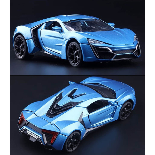 1.32 Lykan Hypersport Car Model Metal Cars Collection Educational For Boys