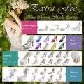 EExtra Cobrar taxa para o Serviço Ao Cliente Personalizar das Mulheres Casamento Sapatos de Noiva (a altura do salto, cor, tamanho, decoração etc)