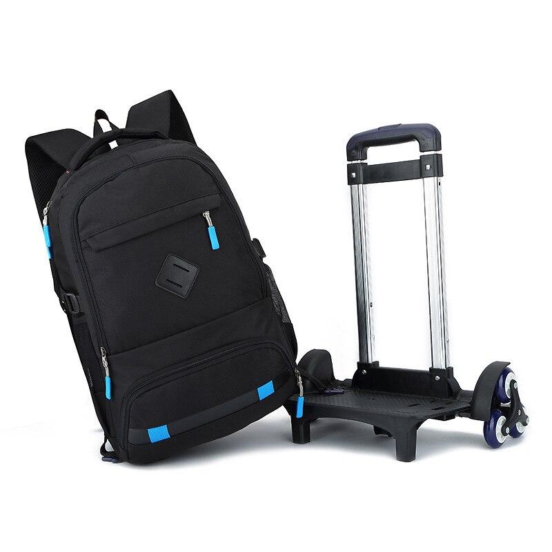где купить New Children School Bags Trolley Backpacks For Boys Schoolbag Kids Luggage Bag On Wheels Backpack Men Bolsas Mochila Infantil по лучшей цене