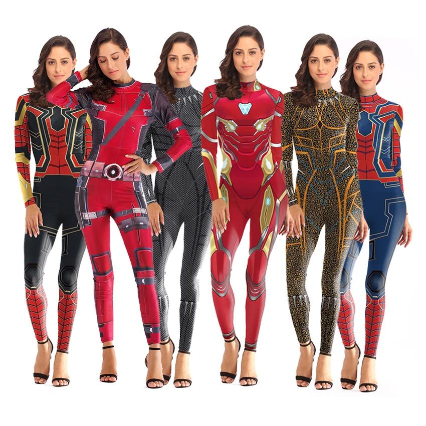 Image 2 - Костюм Человека паука капитан Марвел Асуна, женские костюмы супергероя, карнавальные костюмы Человека паука, Маскарадные костюмы, комбинезоныКостюмы из фильмов и ТВ    АлиЭкспресс