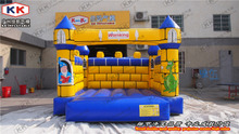 high quality commercial outdoor inflatable bouncer yellow inflatable bouncer for family party use