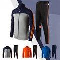 Mens Sport Winter Soccer Jackets And Pants 2017 Men Training Football Running Tracksuits Futbol Sweatshirt Football Sportswear