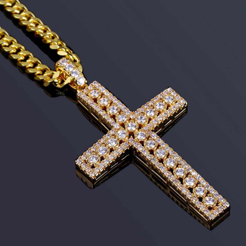 TOPGRILLZ Hip Hop Rock ชายหญิงเครื่องประดับสร้อยคอทอง/เงินสี Iced Out Micro Pave Cubic Zircon จี้สร้อยคอ