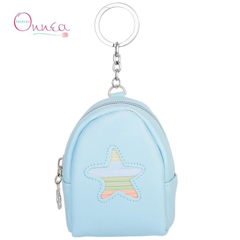 Onnea Backpack Mini Coin Purse Wallet Keychain Keyring PULeaher Multifunction Dolphin Car Bag Pendant Charm Women Bag Accessorie