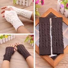 Winter Gloves Warm Knitting Fingerless Glove for Women Girls Keep Mittens Half Finger Wrist Warmer