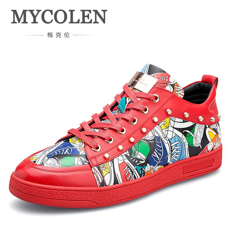 MYCOLEN 2018 Selling Men High Quality Fashion Hot Sale Casual Shoes Breathable Brand Comfortable Red Sneakers Men Shoes hot sale 2016 top quality brand shoes for men fashion casual shoes teenagers flat walking shoes high top canvas shoes zatapos