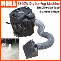 Terreno Baixo 3500 w baixo nevoeiro Máquina de fumaça máquina de Fumaça De Gelo Seco máquina Para stage festa de casamento 3 m Tubo de Desvio e fumaça bico