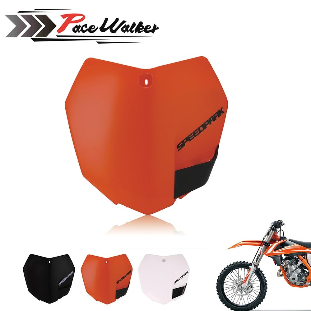 White Orange Plastic Front Name Number Plate For KTM 2013-15 SX SXF XCF 125 250 350 450 Dirt Bike Motocross Enduro