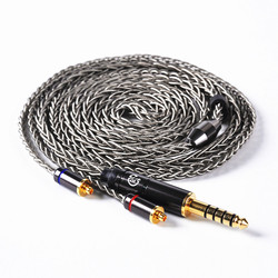 LZ A5 LZ A4/A6 Dedicated Cable 3.5mm/4.4mm/2.5mm Balanced MMCX Cable 8core 6N Frozen Single Crystal Copper Plated Silver Cable