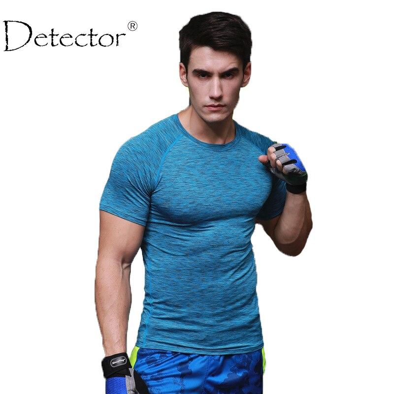 Detector Sport Mens Cours Collants Chemise de Basket-Ball de Remise En Forme Respirant À Séchage Rapide Stretch Tops T-shirt