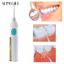 APINKGIRL 1 Stücke Tragbare Power Wasserstrahl Zahnseide Reinigung Whitening Zähne Professionelle Oral Reinigung Werkzeuge Keine Batterien