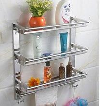 Mttuzk diy нержавеющей стали 3 слоя стиральная машина стеллажи вешалка для полотенец с крюком полки ванная комната кухня и туалет стеллаж для хранения