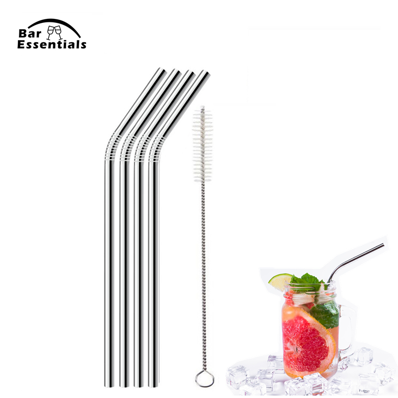 UPORS-4-8Pcs-Reusable-Drinking-Straw-High-Quality-304-Stainless-Steel-Metal-Straw-with-Cleaner-Brush (2)_