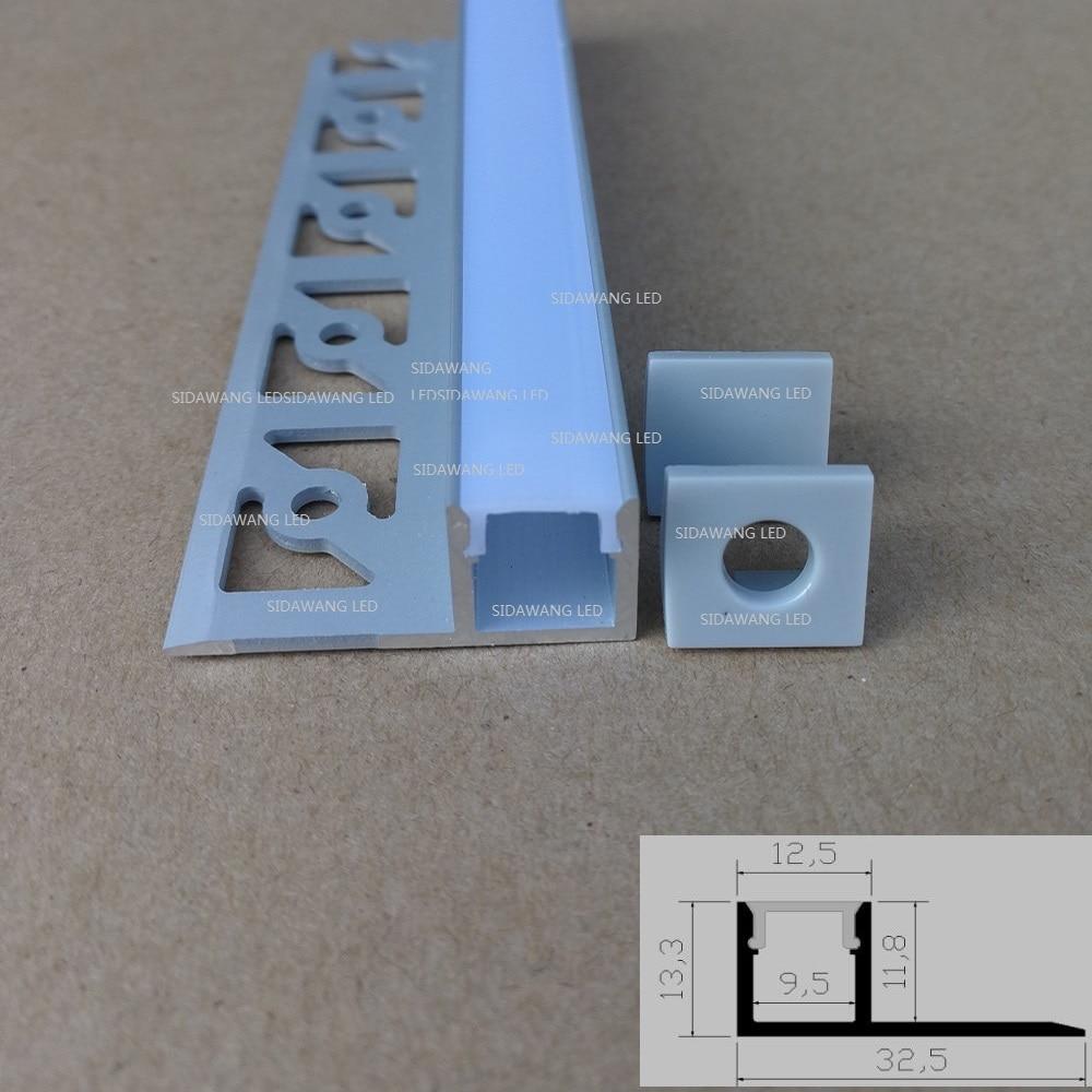 10packs X 1m/pc Led Aluminum Channel , Aluminium Profile Led For Architectural Gypsum Plaster Led Strip Sdw3213