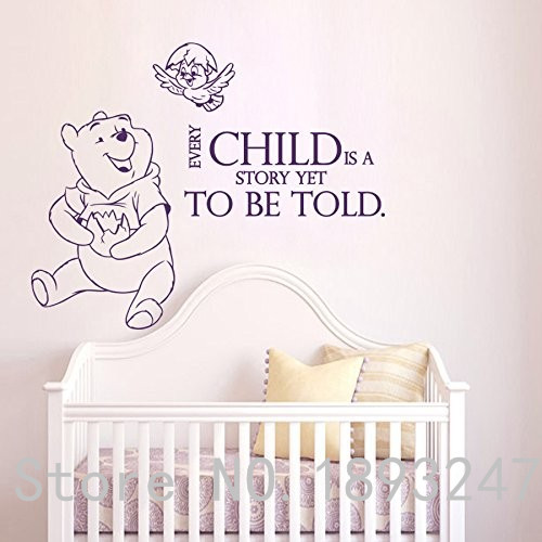 Cute Disney Winnie The Pooh Friends Flowers Tree Home Wall Decor Stickers