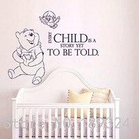 Winnie Pooh Duvar Çıkartmaları Tırnaklar Vinil Sticker Kreş Odası yatak odası Çıkartması Bebek Oğlan Kız Ev Dekor Sanat Resimleri Ücretsiz nakliye