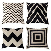 1pcs 45*45cm Vintage Cushion Cover Fashion Cotton Linen Decorative Cushion Covers Throw Pillow Covers 4 Styles Free Shipping