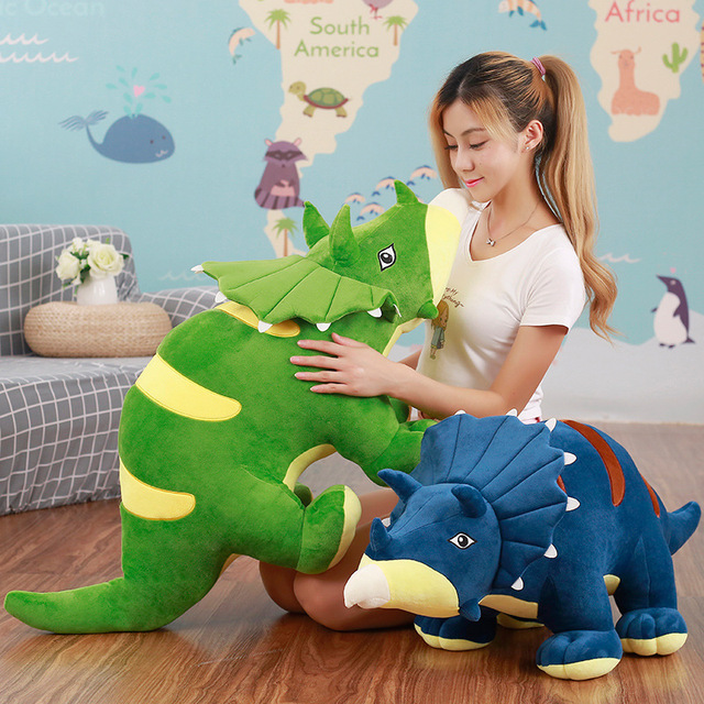 Blue Soft Toys Plush Dinosaur Triceratops Stuffed Animal Small Presents Brinquedo Menina Stuffed Dolls Speelgoed Pillow For Kids