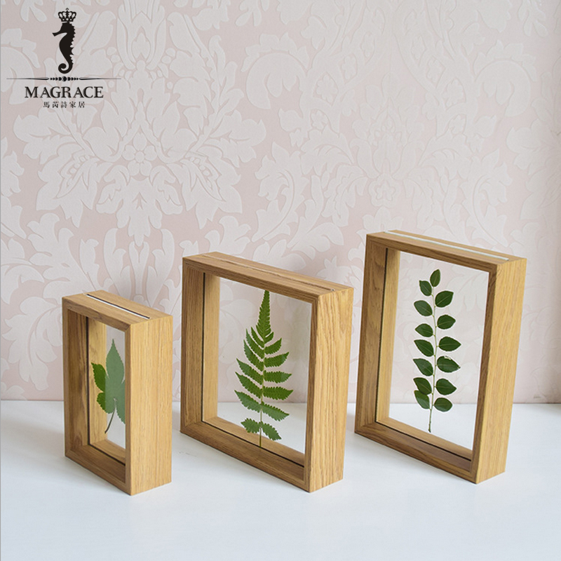 modern rustic wooden glass photo frames romantic picture
