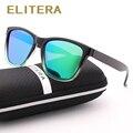 ELITERA Nova Moda Mulheres Óculos Polarizados Famosa Senhora Marca Designer Gradiente Cores Revestimento de Espelho Óculos de Sol UV400