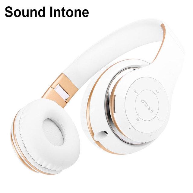 Sound intone bt-09 auriculares bluetooth auriculares estéreo inalámbricos con micrófono soporte de tarjeta tf de radio fm para iphone samsung llamadas