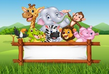 Laeacco Jungle Party Elephant Deer Monkey Zebra Baby Photography Background Customized Photographic Backdrops For Photo Studio