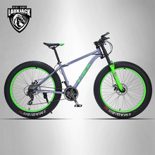 "FALTA Frenos de Disco de Bicicleta de Montaña Marco de Acero de 24 Velocidades Shimano FatBike 26 ""x4.0 Ruedas Tenedor Largo"