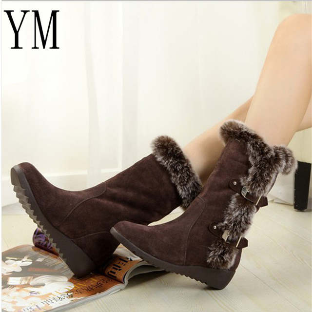 7fea5940d9ed 2018 New Hot Women Boots Autumn Flock Winter Ladies Fashion Snow Boots Shoes  Thigh High Suede