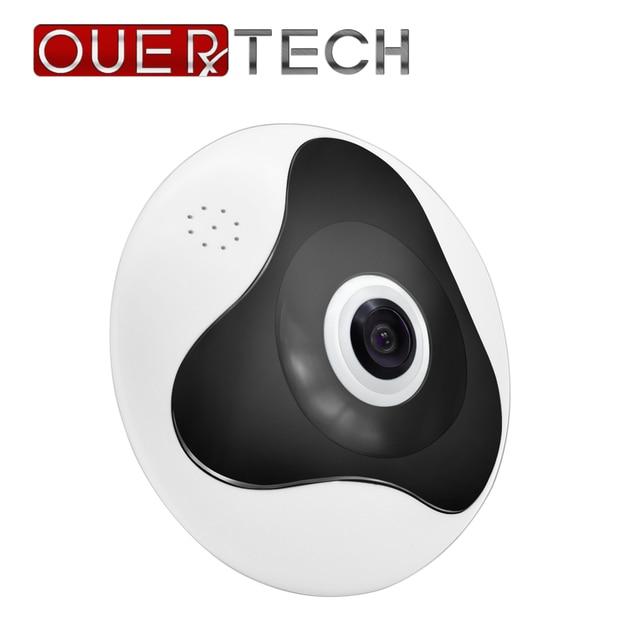 OUERTECH 3D WIFI панорамная Беспроводная умная IP камера с углом обзора 360 градусов и двухсторонним аудио VR 128 МП «рыбий глаз» с поддержкой домашней безопасности g