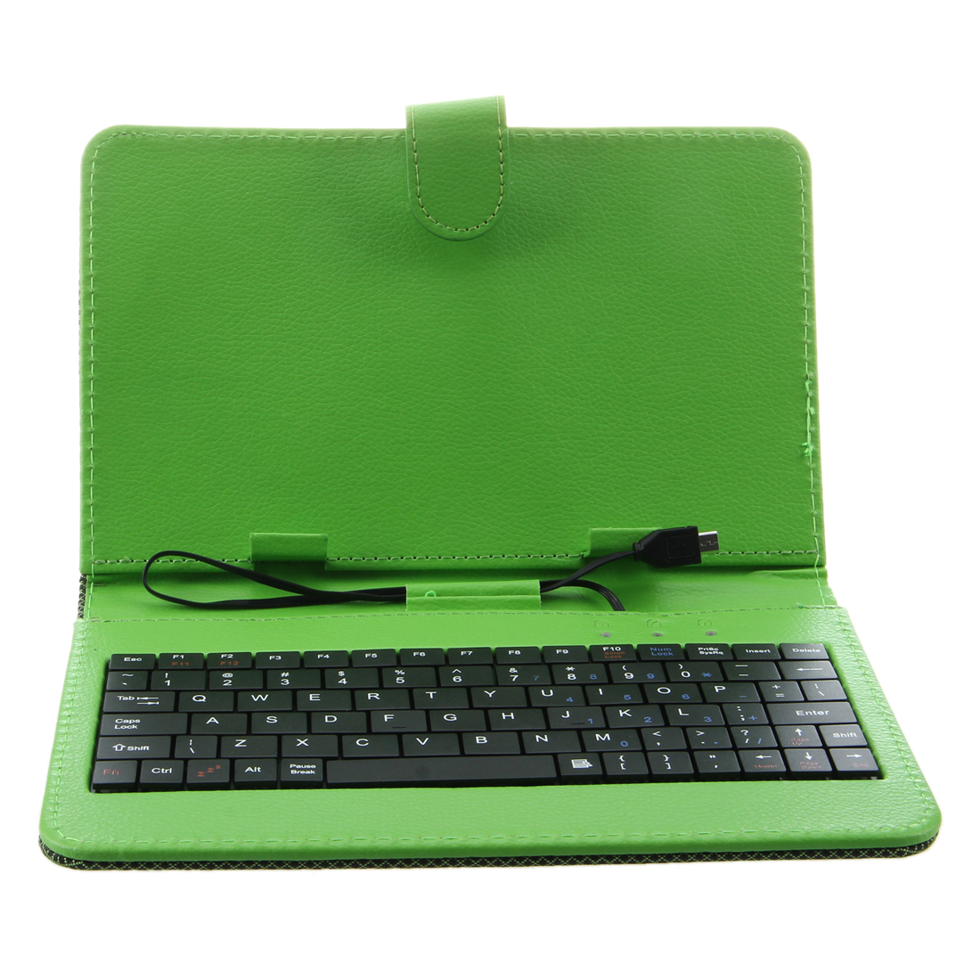 Green Case Cover Keybaord Stand for 7 inch Micro USB Tablet MID