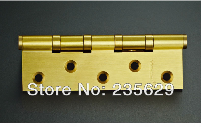 Free Shipping, High Quality brass ball bearing hinge Hinges, 5inch, 3mm thickness, Low Noise, smooth and quite 100pcs lot american face frame cabinet hinges smooth soft close 3 dimension adjustments hinge multiple overlay