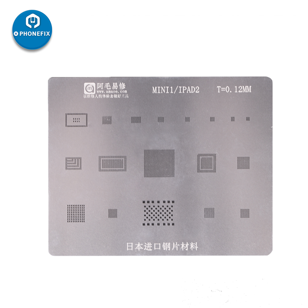 All-Purpose AMAO BGA Reballing Stencil Template For IPad2/3/4/5/6/Pro/mini1/2/3/4 CPU BGA Reballing Tin Planting Steel Net