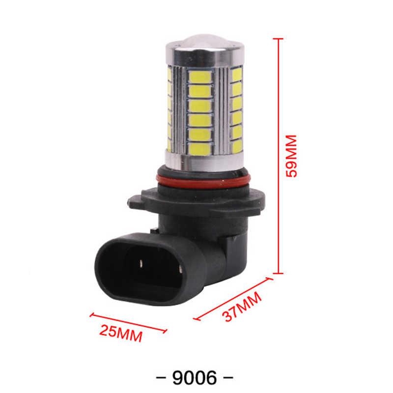 Автомобильный 9006 HB4 5630 33 SMD светодиодный противотуманная лампа лампочка поворот парковка туман тормозные лампы белый AC/DC 12 V Внешнее освещение