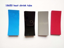 20pcs 18650 shrink wrap PVC heat shrink tube cable sleeves 18650 heat shrink