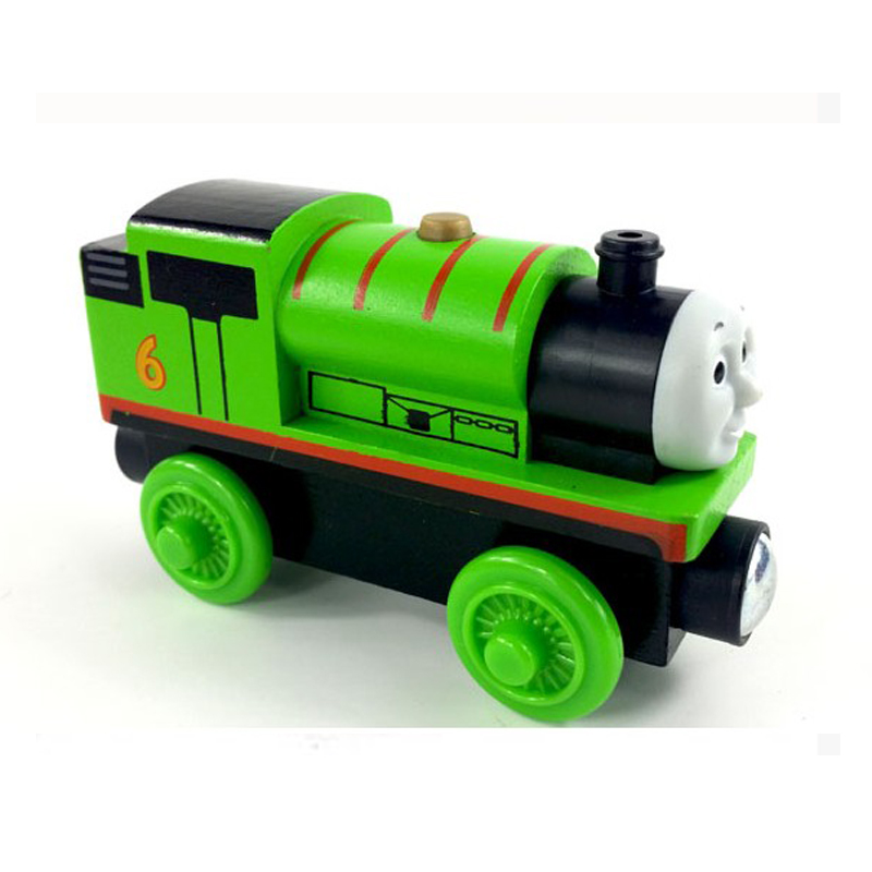 free shipping RARE percy Thomas And Friends Wooden Magnetic Railway Model Train Engine Track Boy / Kids Train Game Toys