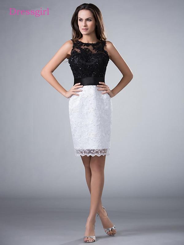 Black White 2019 Mother Of The Bride Dresses Sheath Appliques Lace Beaded Plus Size Short Elegant Groom Mother Dresses Wedding