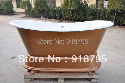 Free shipping luxuary bathtub cast iron pedestal bathtub use for ...