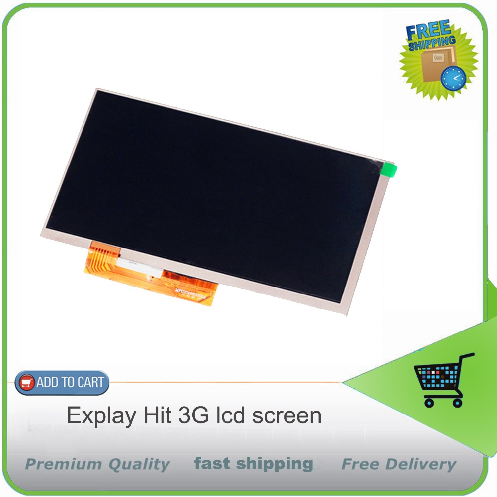 New 7'' inch LCD display Matrix For Explay Hit 3G Tablet inner TFT LCD Screen Panel Lens Module Glass Replacement Free shipping new lcd display matrix for 7 nexttab a3300 3g tablet inner lcd display 1024x600 screen panel frame free shipping