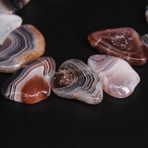 Image 3 - Approx19PCS/strand Top เจาะดิบบอตสวานา Agates Slab Slice หลวมลูกปัด, แถบ Agates อัญมณีหิน Nugget จี้เครื่องประดับทำ